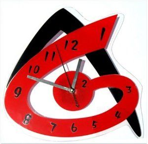 Horloge moderne murale design rouge recherche google for Horloge zodio