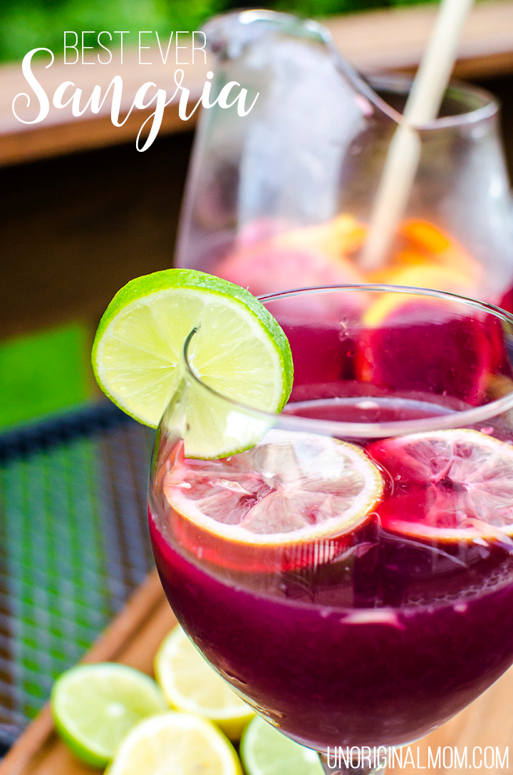 Best Ever Sangria Recipe - unOriginal Mom