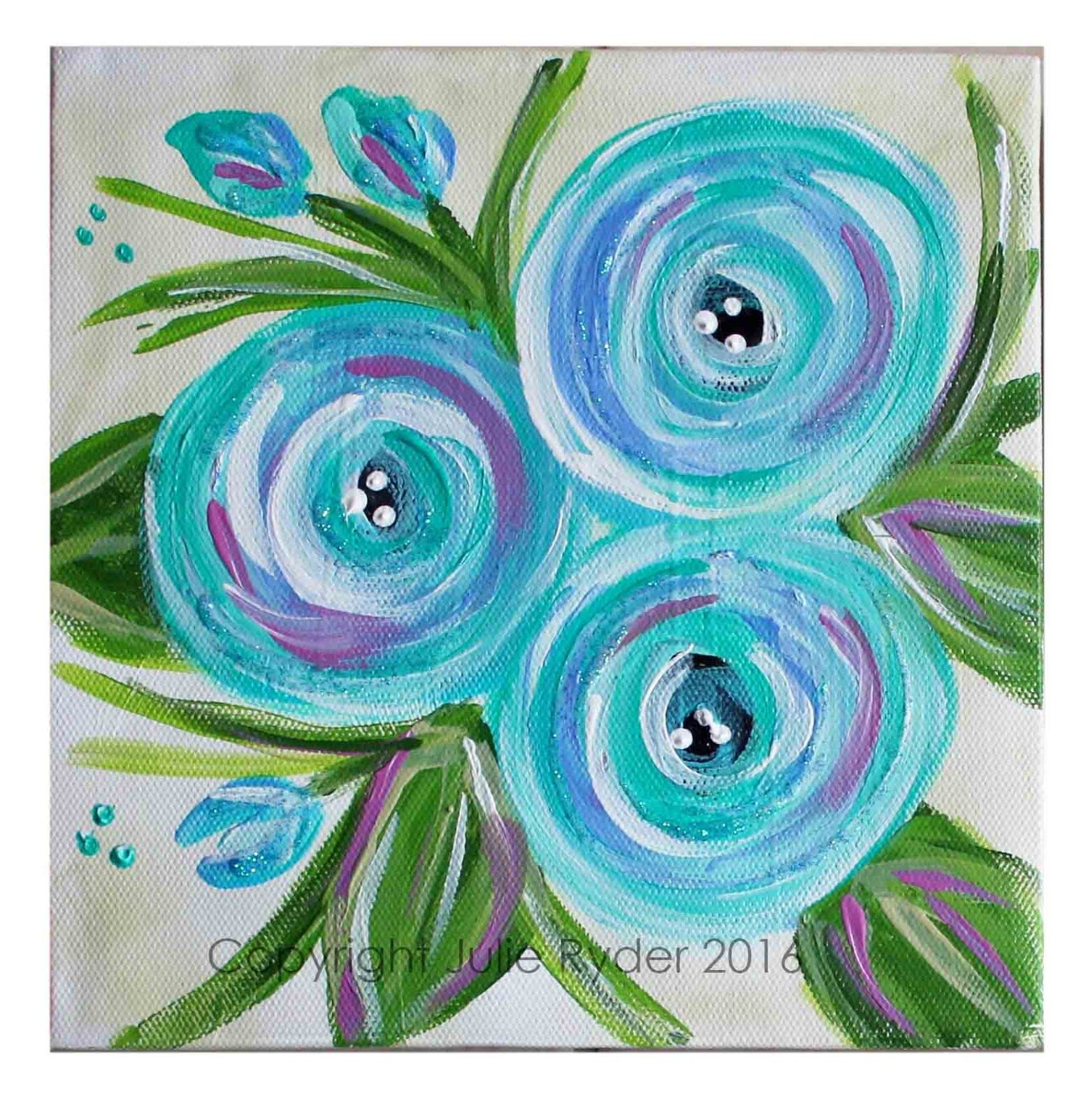 Made-By-Me....Julie Ryder: Flowers and swirls.. | canvas art ...