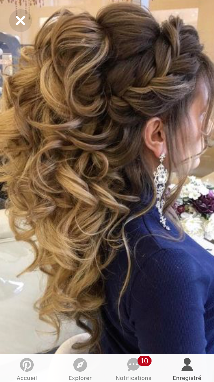 Pin By Lanctot Maryse On Coiffure De La Mariee Pinterest Updo