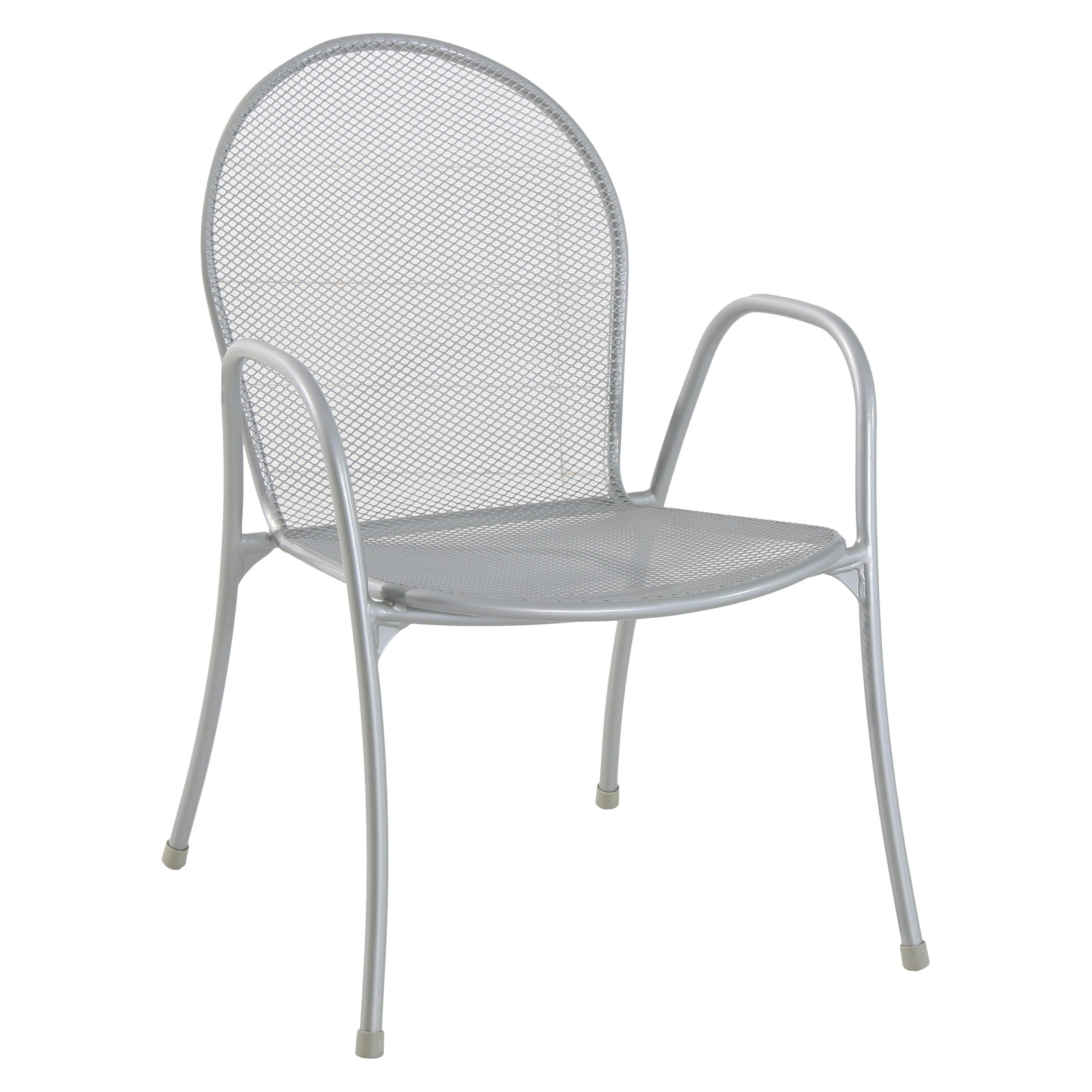 Metal mesh patio chairs - Carmack Metal Mesh Stack Patio Chair Silver Threshold