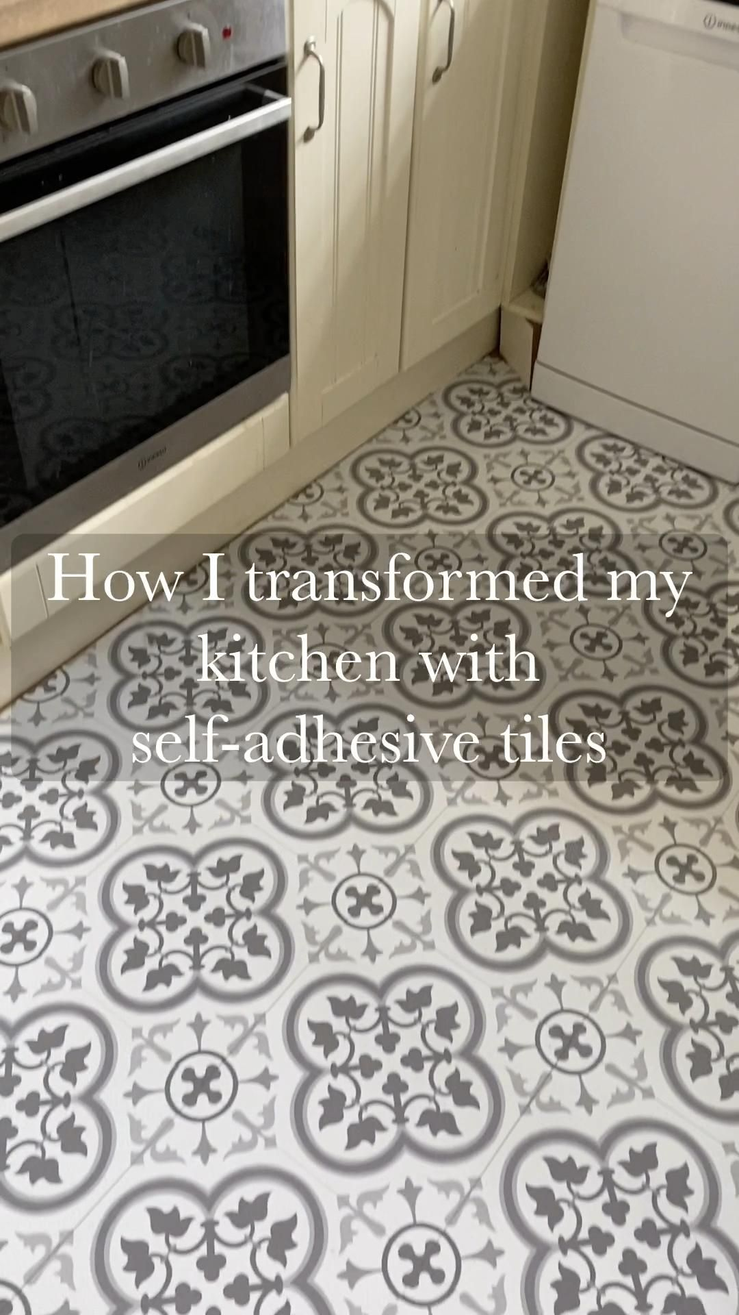 Photo of Budget kitchen makeover: Transforming my kitchen with self-adhesive vinyl floor tiles