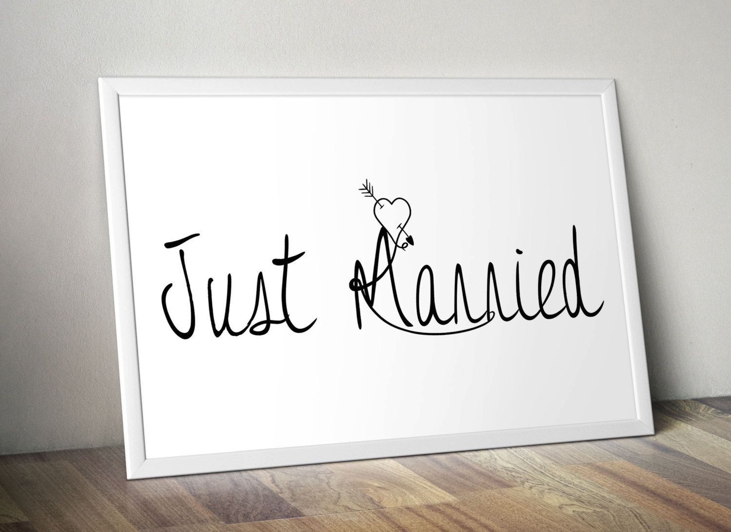 Just Married Quotes Just Married Printable Wall Romantic Art Home Decor Love Poster