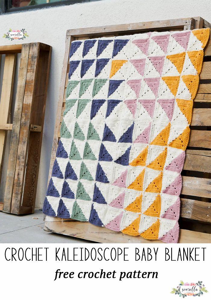 Crochet Kaleidoscope Baby Blanket | Manta, Patrón de ganchillo y Caminos
