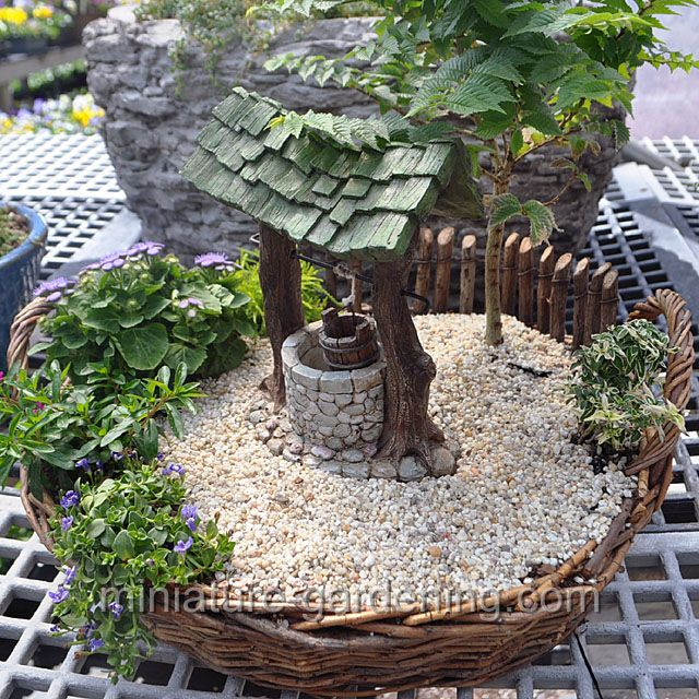 Wishing Well Fairygarden Fairyhouses Miniature Garden Fairy Garden Containers Fairy Garden