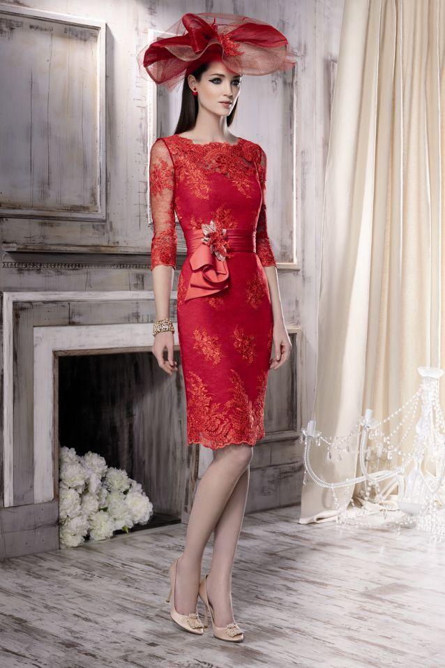 Vestidos de madrina de boda color rojo