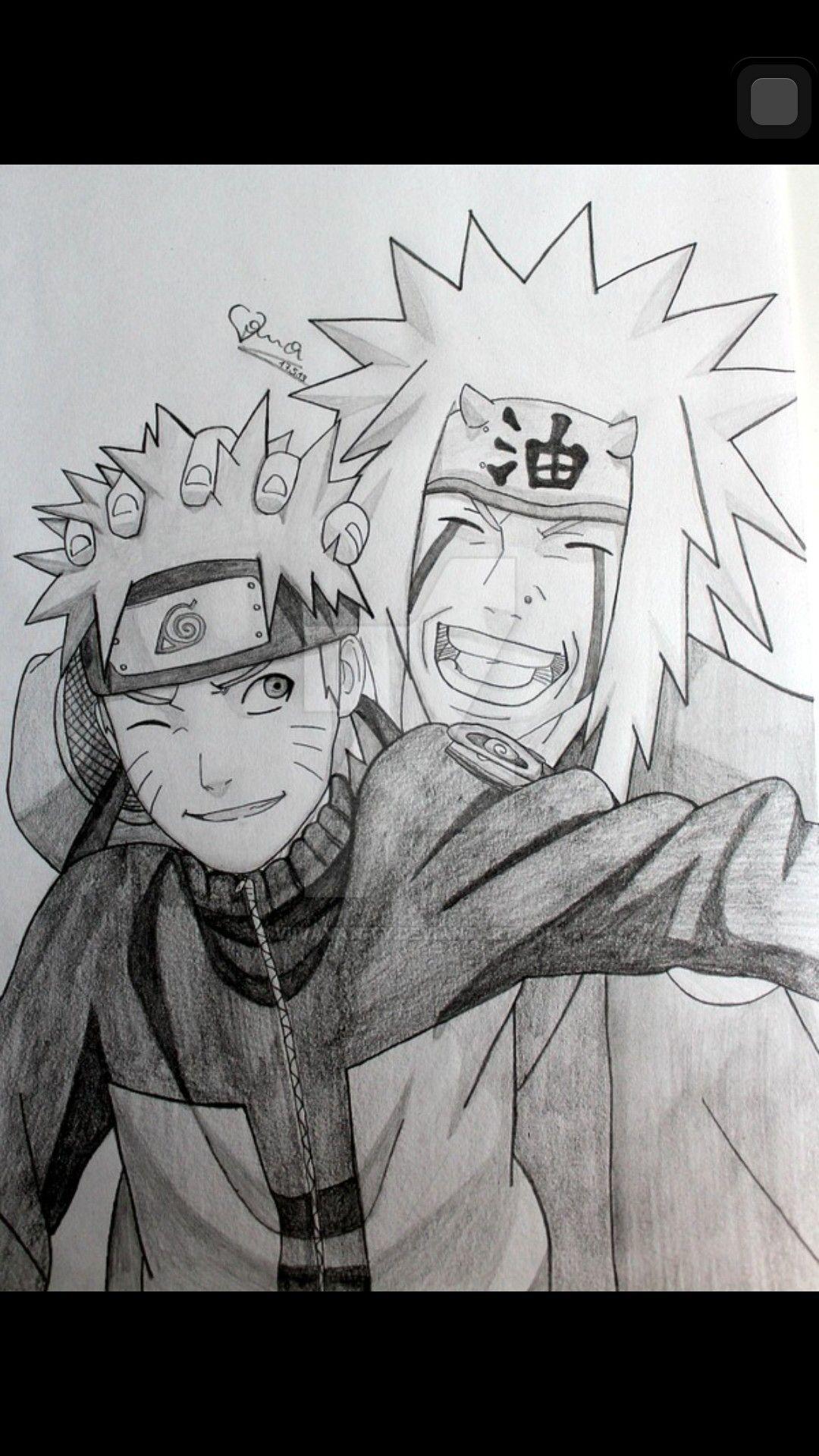 Naruto And Jiraiya Drawing Naruto Sketch Naruto Painting Naruto Sketch Drawing