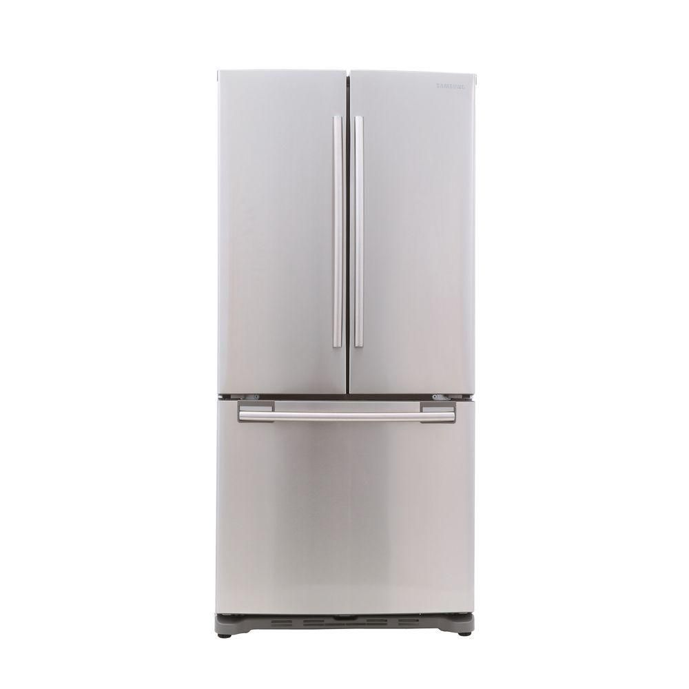 Samsung 33 In W 175 Cu Ft French Door Refrigerator In Stainless
