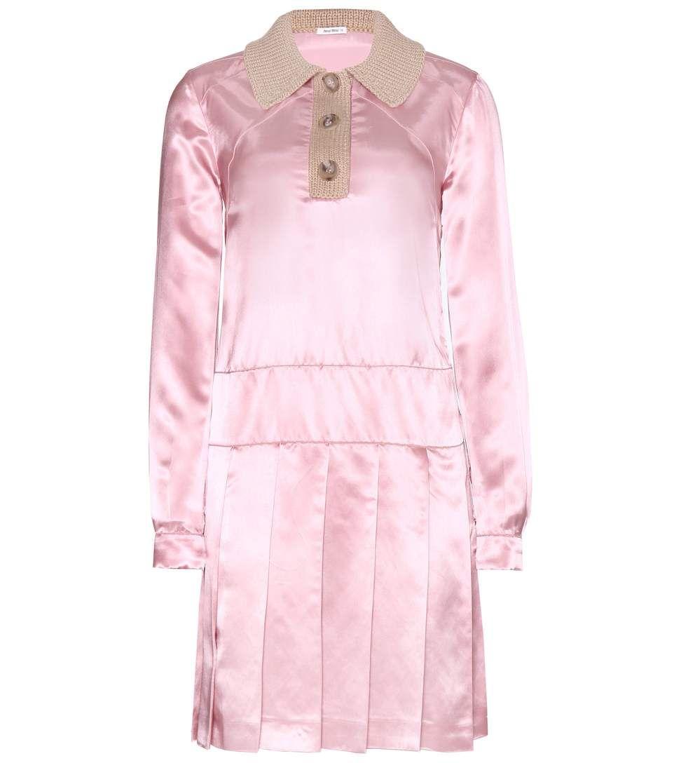 389d1ecfd4e mytheresa.com - Satin And Wool Dress ∇ Miu Miu » mytheresa - Luxury Fashion  for Women   Designer clothing, shoes, bags
