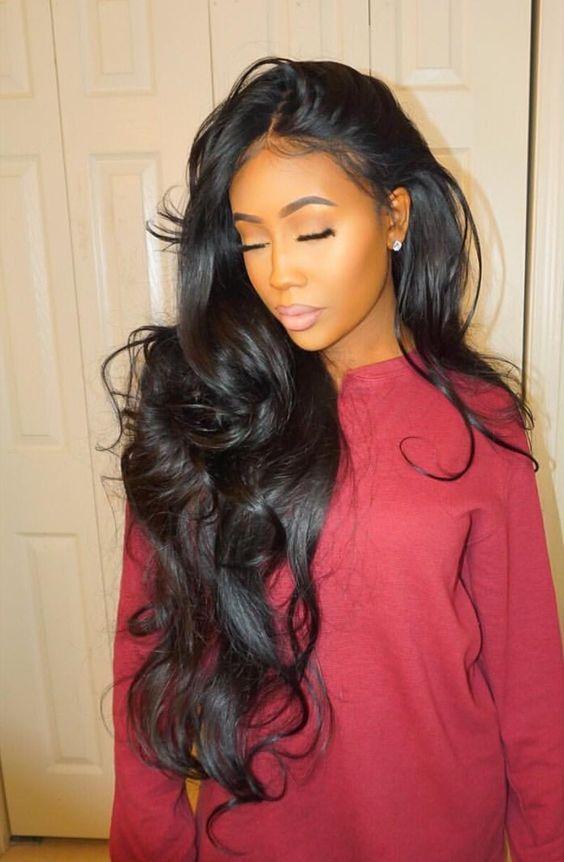 Cute Sew In Styles : styles, Grade, Brazilian, Virgin, 3Pcs/Lot, Natural, Black, Color, Styles,, Hair,, Styles