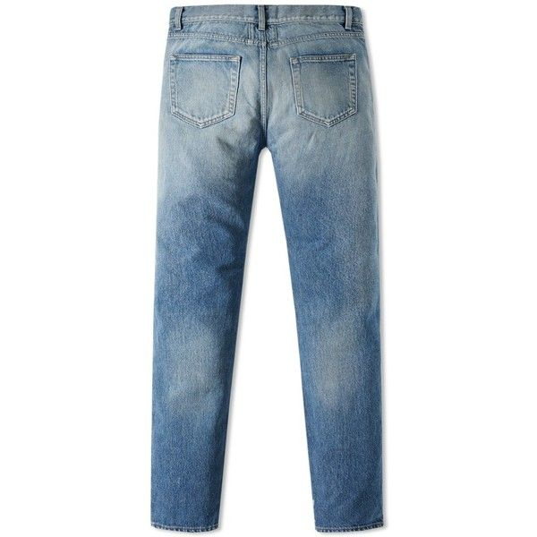 Saint Laurent Washed Skinny Jean (36.130 RUB) ❤ liked on Polyvore featuring men's fashion, men's clothing, men's jeans, mens super skinny jeans, mens skinny fit jeans and mens skinny jeans