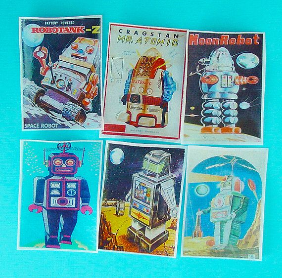 Vintage Sci Fi Robot Edible Image Wafers QueenofTartsWafers Robots SciFi