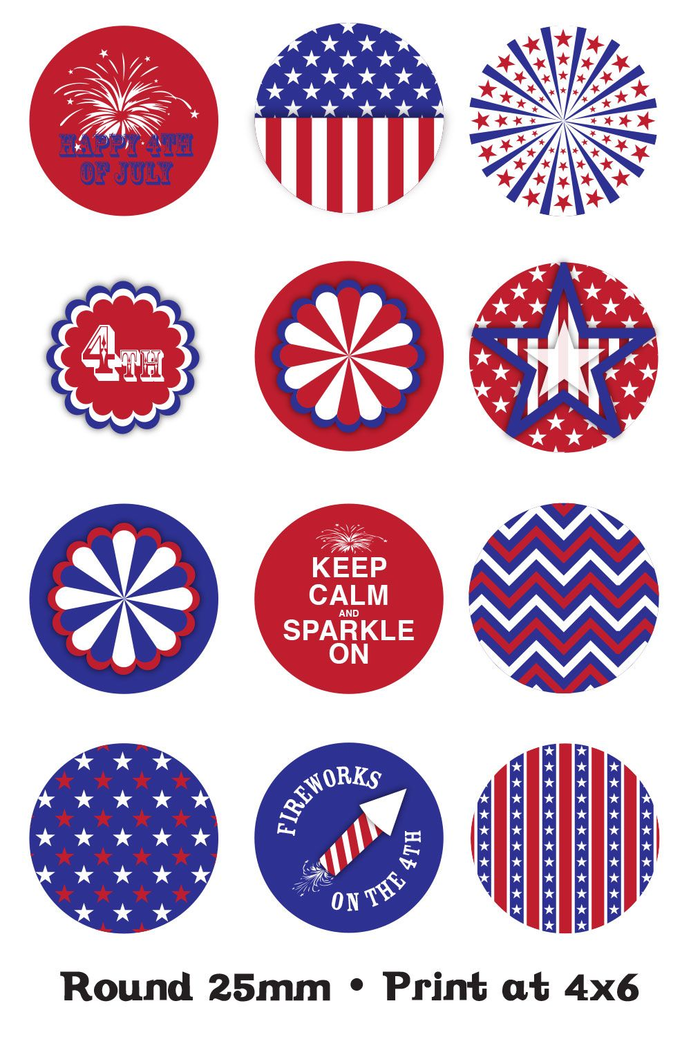 FREE #4thofJuly #printables to fit the Shape Studio Tool Round 25 ...