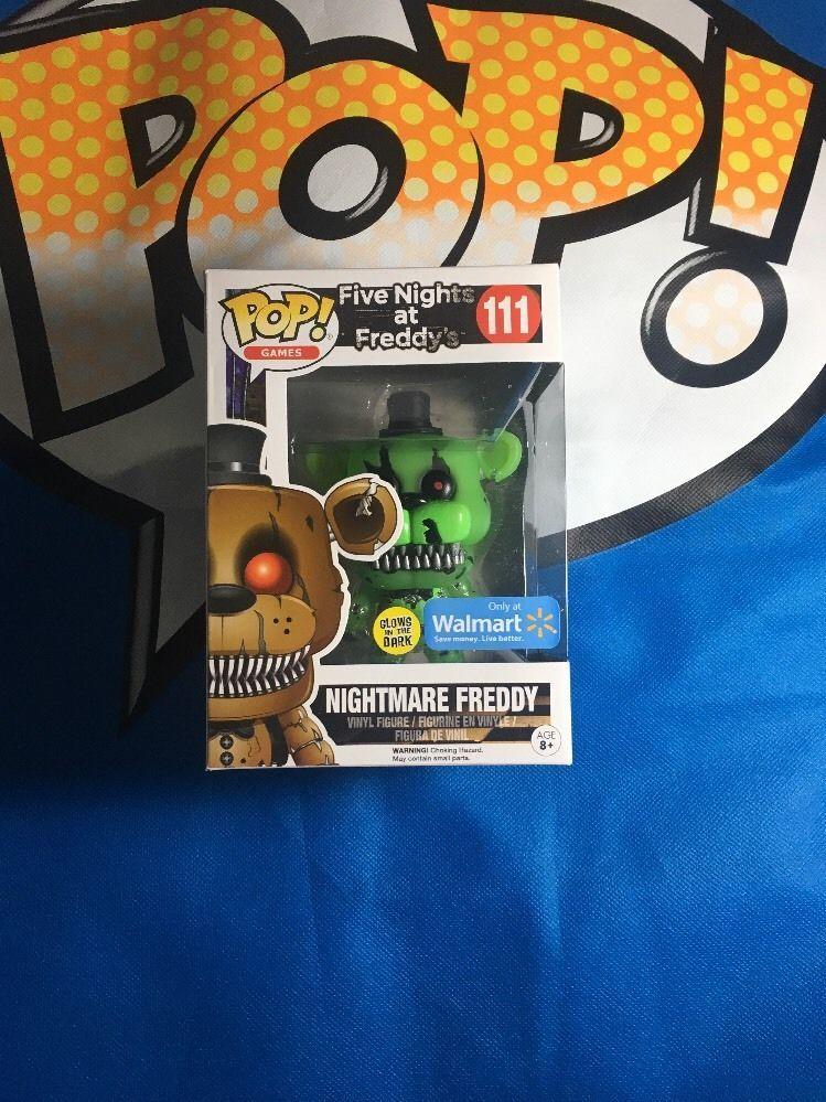 Funko Pop! Five Nights at Freddy's Nightmare Freddy Glow Dark Walmart Exlcusive