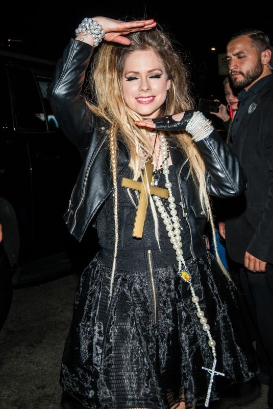 Casamigos Halloween Party 2020 AVRIL LAVIGNE at Casamigos Halloween Party in Beverly Hills 10/25