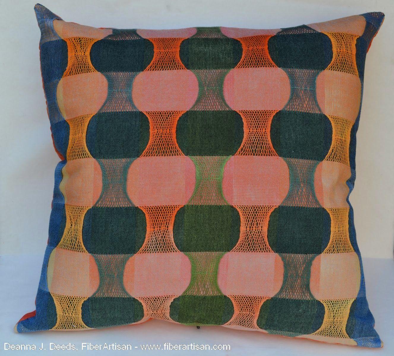 A FiberArtisan's Weaving Path: 2014 Award Winner Fabric Appearing as Cushion Covers