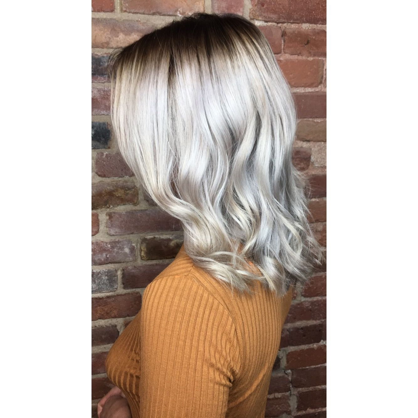 Dark Shadow Root Platinum Blonde Root Dimension Roots Hair