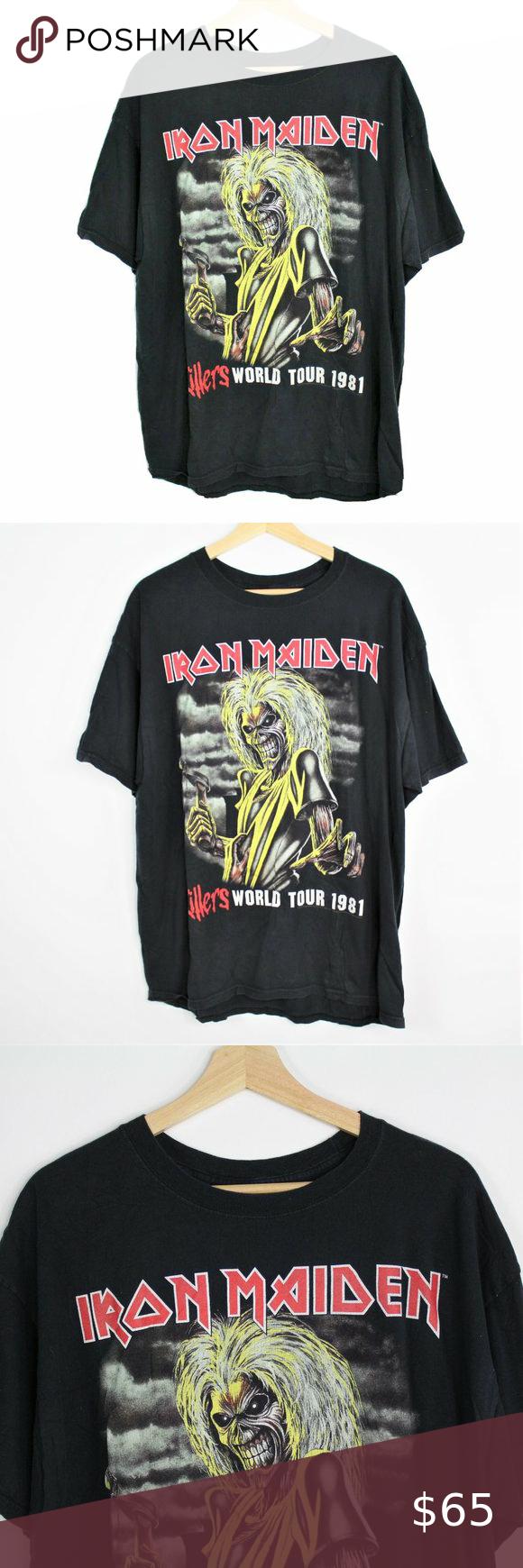 Vintage Hanes Iron Maiden Killers World Tour 1981 Vintage Hanes Iron Maiden Killers World Tour 1981 Shirt Reprint 2006 S Clothes Design 1981 Shirt Iron Maiden