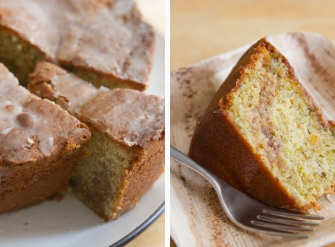 Pistachio and Sour Cream Coffee Cake