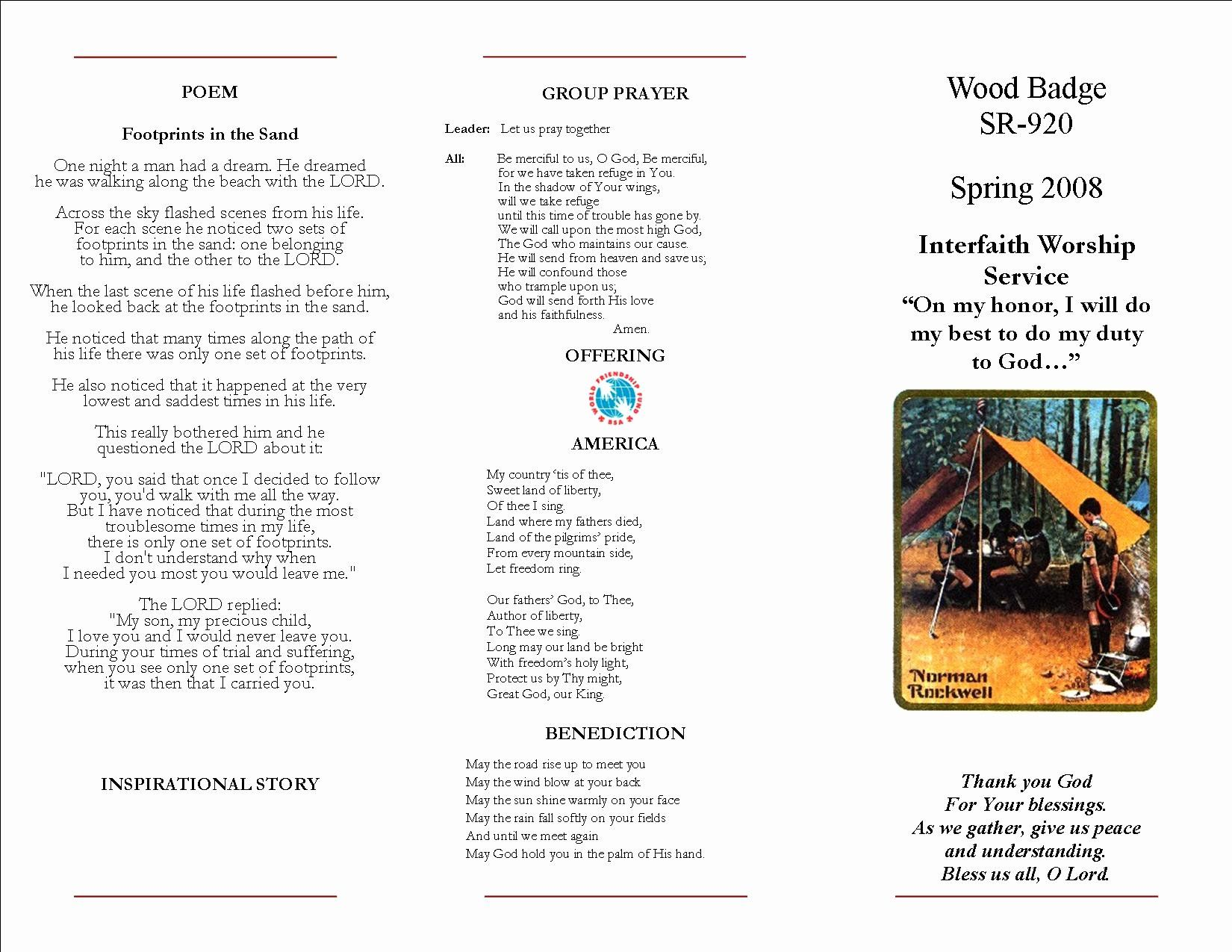 Worship Service Planning Template New Sample Boy Scout Interfaith Worship Simple Business Plan Template Business Plan Template Word Business Plan Template Free
