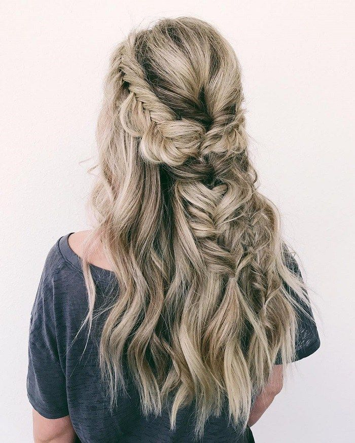 fishtail hairstyle wedding