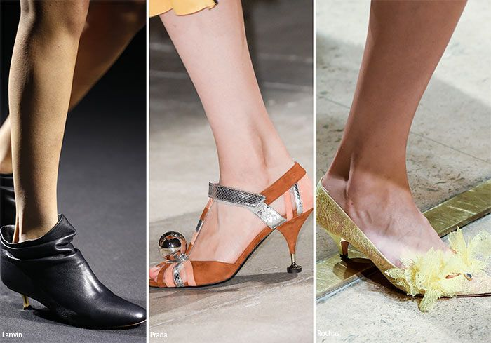 Spring/ Summer 2016 Shoe Trends: Shoes with Kitten Heels  #shoes #trends #SS16
