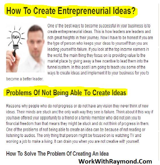How To Create Entrepreneurial Ideas Good Business Ideas Home