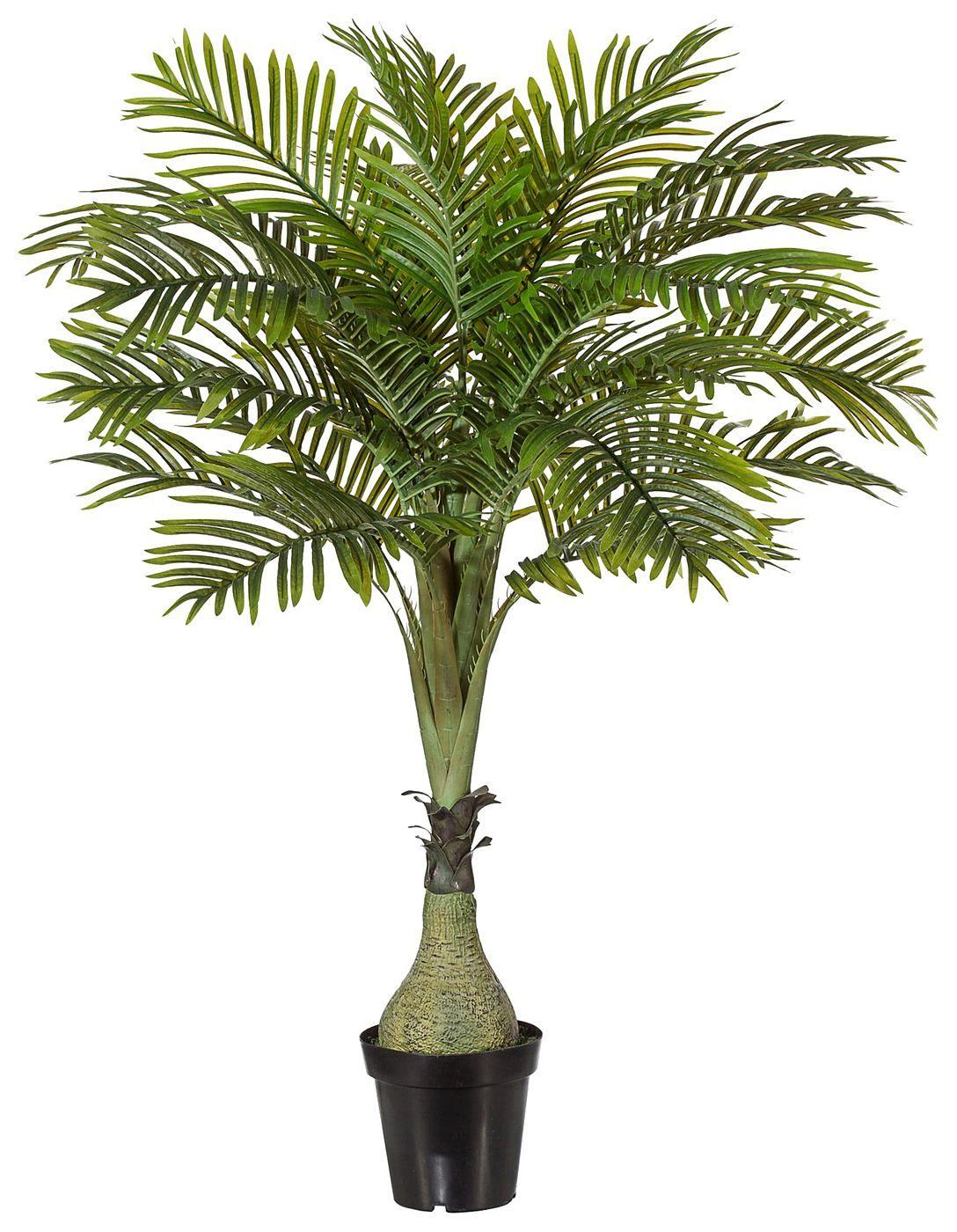 Artikeldetails:  Naturgetreue Areca-Palme, Höhe: 150 cm,  Material/Qualität:  Kunststoff, Topf aus Kunststoff,  ...