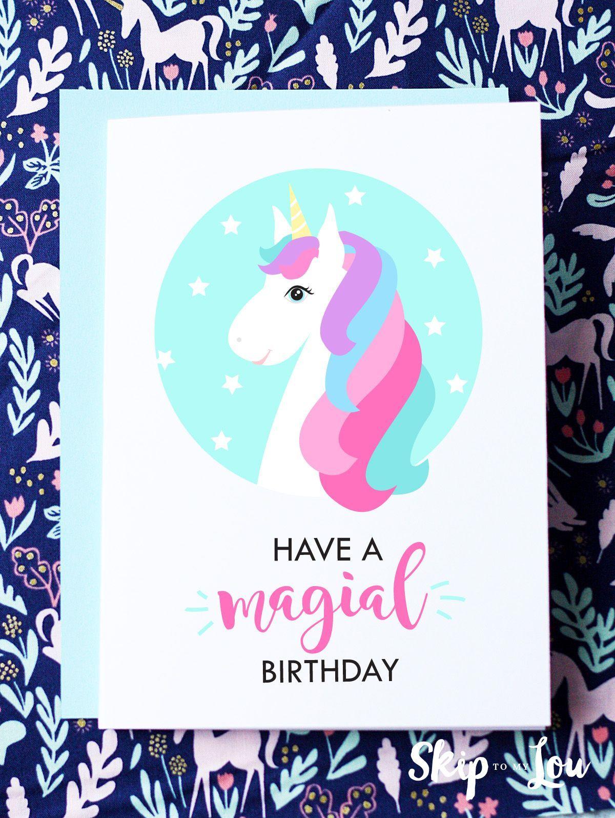 Free Printable Birthday Cards Happy Birthday Cards Printable Unicorn Birthday Cards Free Printable Birthday Cards