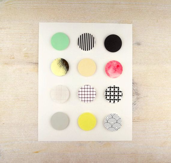 Paper Collage Circles Art - Swatch 2