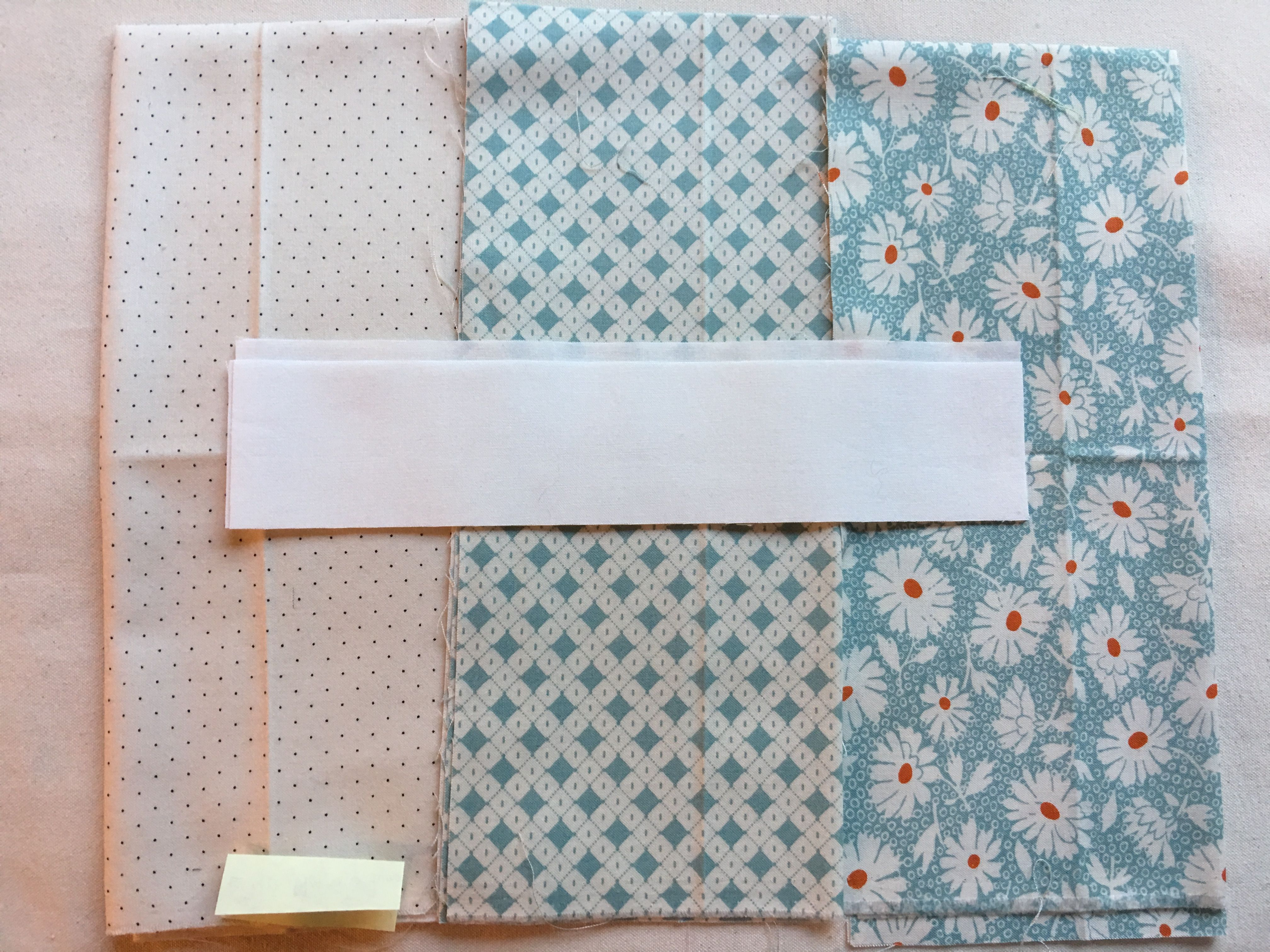 Kona Snow Pin Dot And Hop Skip Jump Pale Blue House Quilts