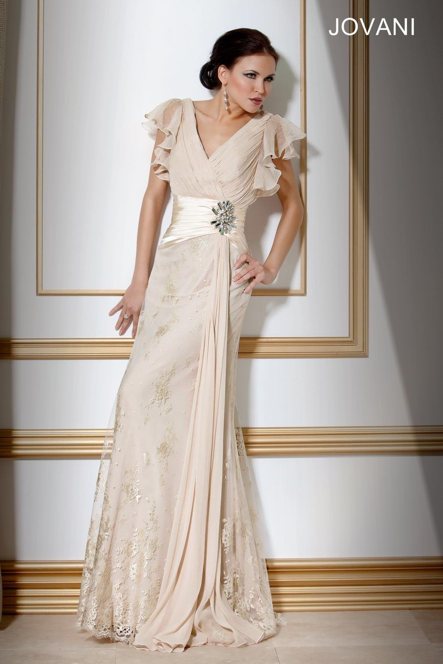 Chiffon Lace Designer Gown Style This gown is beautiful and