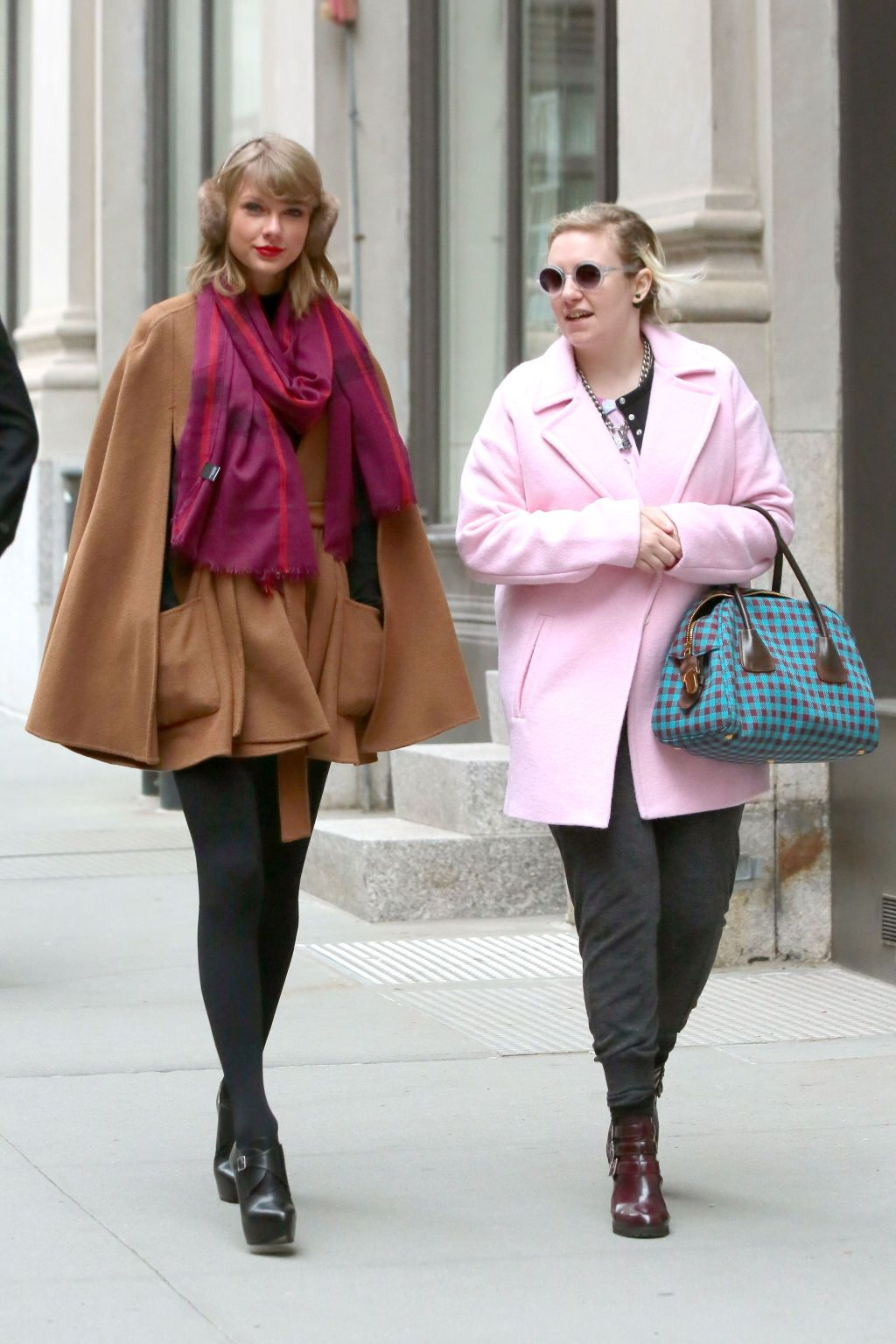 Taylor Swift Flaunts a Violet Bomber and Dress in NYC  e5dc728322c
