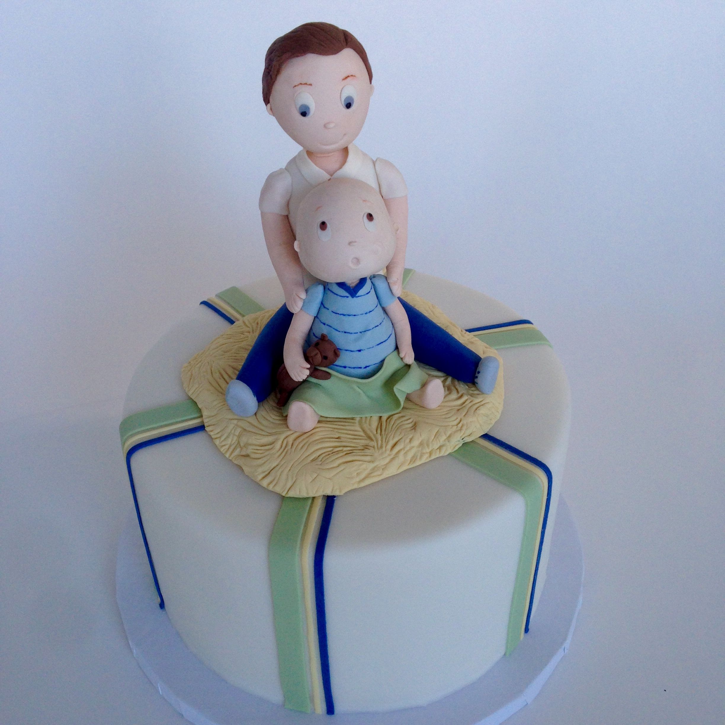 Daddy Me A Birthday Cake For A Father And His Young Son