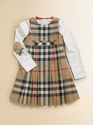 e974240e5f2ea Burberry Toddler's & Little Girl's Check Dress | Products I Love ...