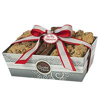 Silver Grand Gift Tray - Be My Valentine - Assorted Cookie and Brownie Options $55.00