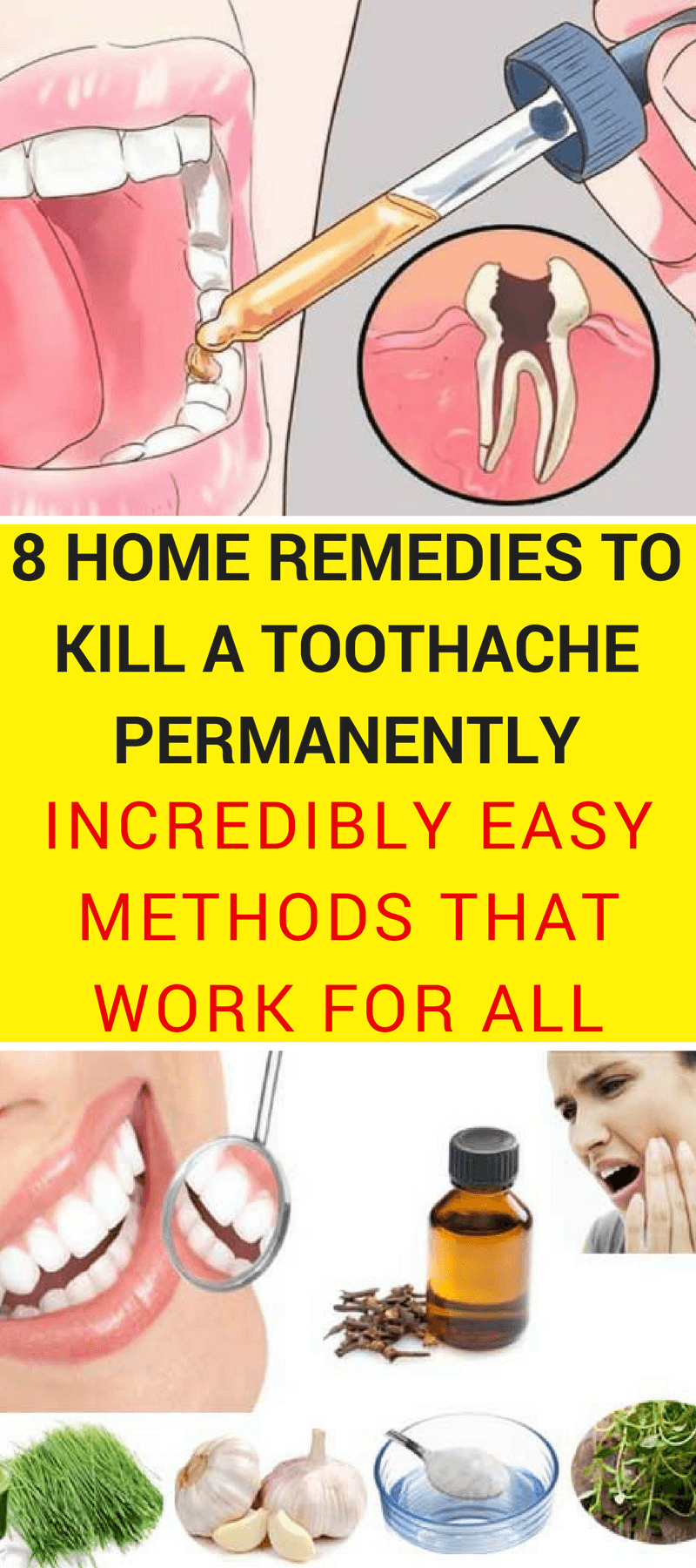 A toothache is something which we all have experienced at least once in our lifetime. That's why we brought you some homemade remedies that will cost you ...