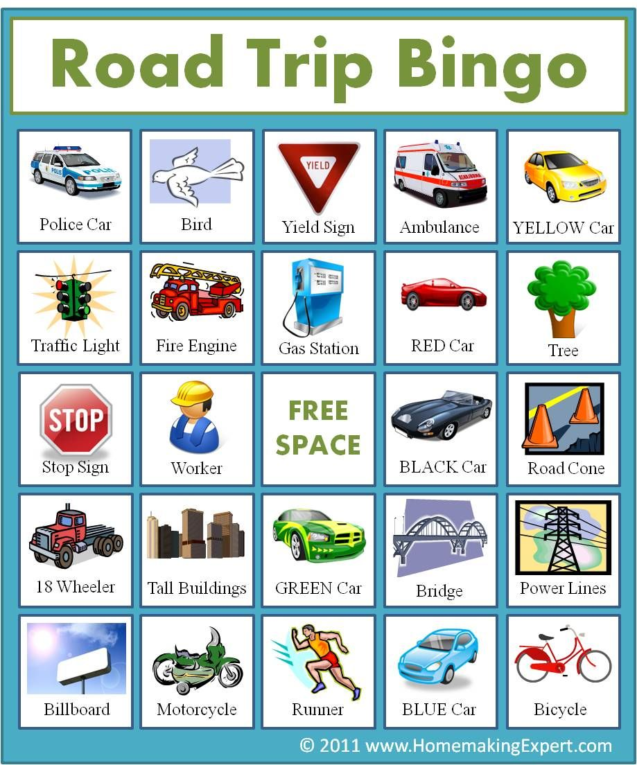 image relating to Travel Bingo Printable titled 17 Touring with Children Strategies and Highway Getaway Tips Elements