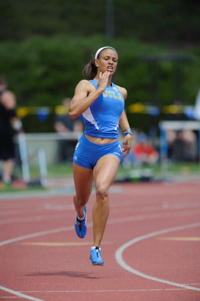 TRACK AND FIELD: UCLA's Turquoise Thompson hurdles over ...