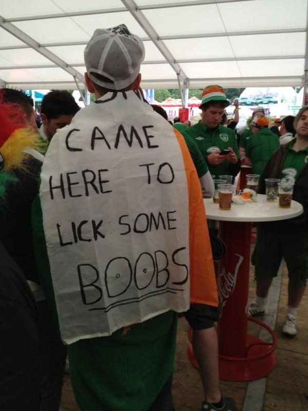 Ireland fans, again
