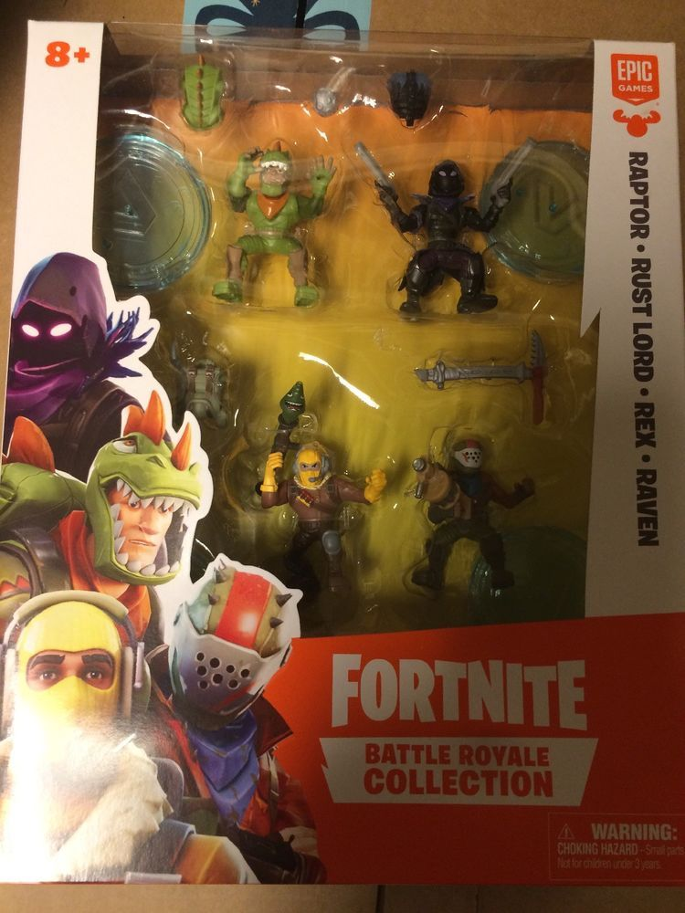 Fortnite Battle Royal Collection Toy Set Raptor Rust Lord Rex
