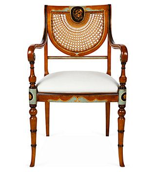 Great Sheraton Style Cane Backed Armchair. Some Of The Most Refined, Timeless And