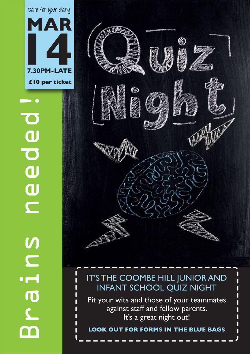 Poster design for quiz - School Quiz Night Poster