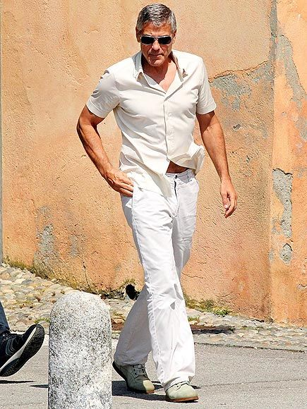 George Clooney in Italy