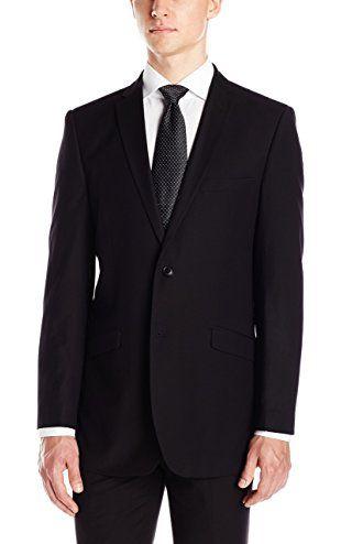 Adolfo Mens Micro Tech Flat Front Suit Pant