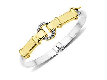 Buckle bangle bracelet with diamonds.  This is an awesome bracelet at a huge discount.