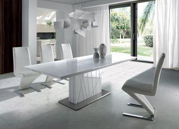 Table De Salle A Manger Design Rectangulaire Avec Rallonge Centrale