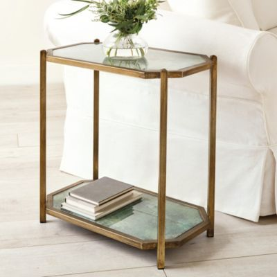 Suzanne Kasler Lydie Side Table In 2020 Glass Side Tables Glass Shelves Furniture