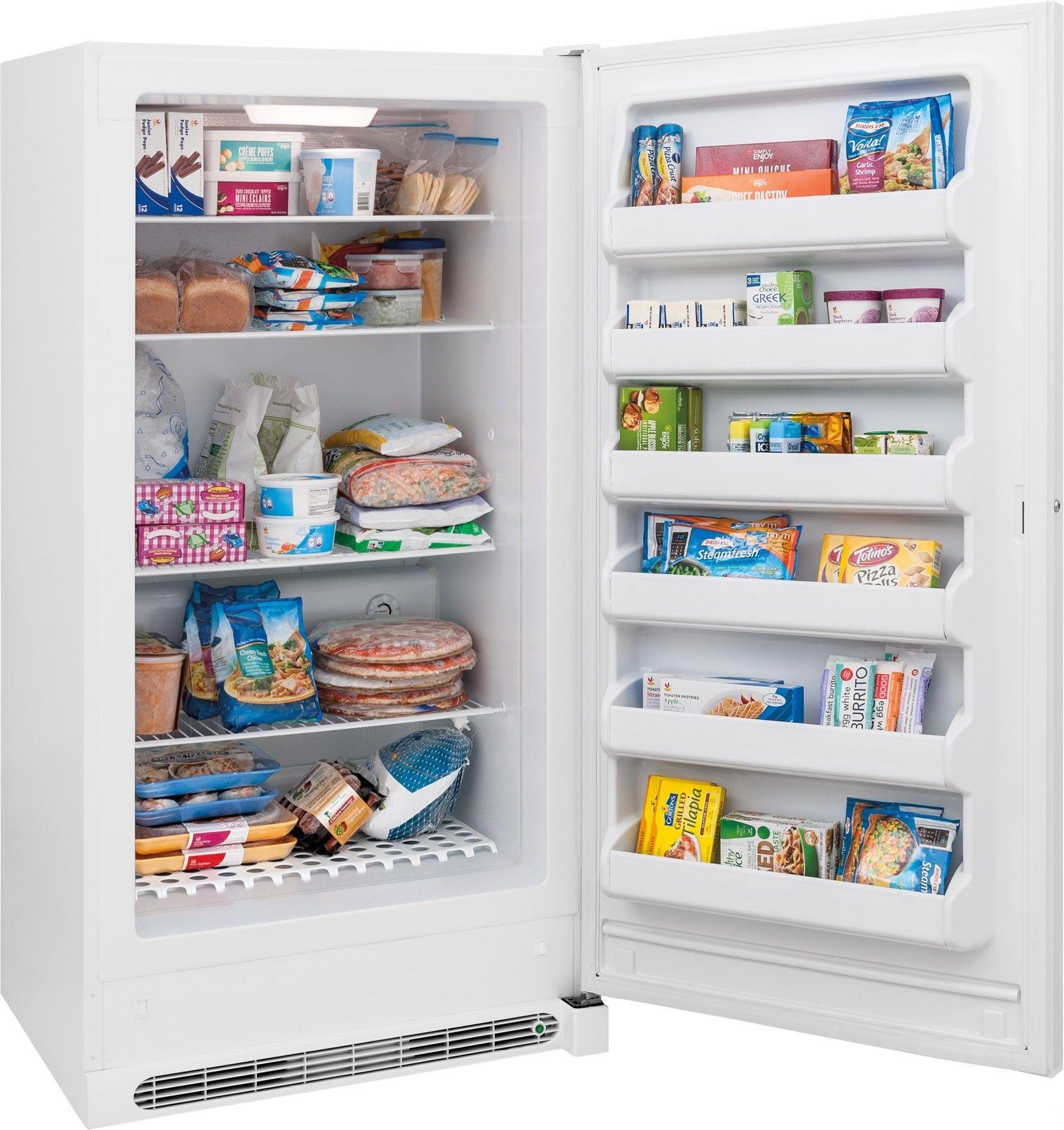 Fffh20f2qw By Frigidaire Upright Freezers Goedekers Com Upright Freezer Freezer Frigidaire