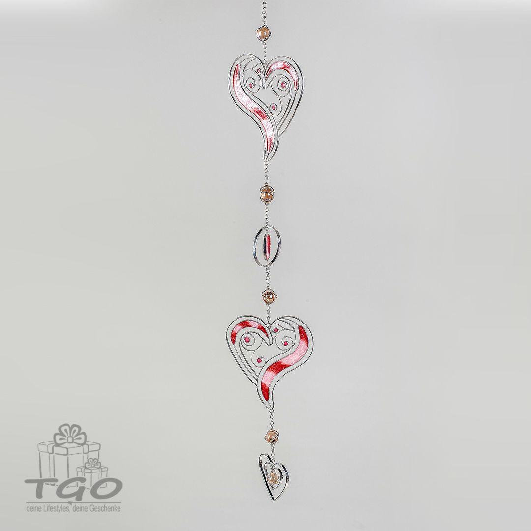25 cm formano Fensterdeko Hängedeko Dekohänger mit Herzen aus Acryl
